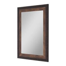"""Hitchcock Butterfield Cabin Trunk Chestnut Brown Mirror, 31.5""""x43.5"""""""