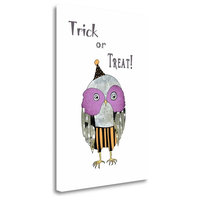 """Trick Or Treat Owl"" By Sarah Ogren, Giclee Print on Gallery Wrap Canvas"