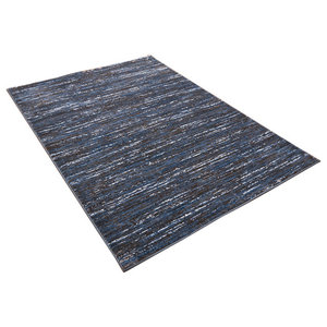 Strata Blue and Grey Rectangular Rug, 200x290 cm