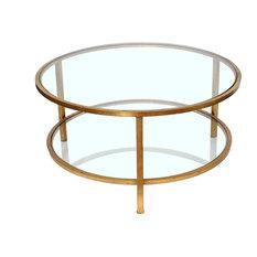 MOD   Flavia 2 Tier Glass Coffee Table   Coffee Tables