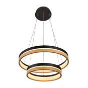 "Silva 24"" Integrated LED Chandelier, Plated Black Wood Finish"