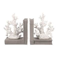 Elk Lighting Coralyn Bookends, Grey and White