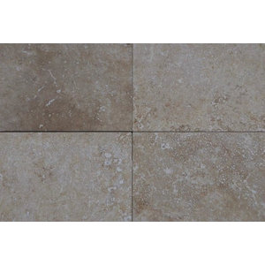 "Turco Classico Cross Cut Commercial Travertine, Honed Finish, 12""x12"", Set of 80"