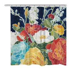 Midnight Floral Shower Curtain
