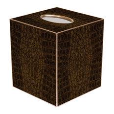 TB1704-Brown Crock Tissue Box Cover