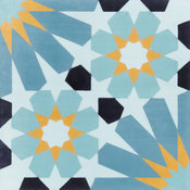 """8""""x8"""" Tangier Primero Handcrafted Cement Tiles, Set of 16"""