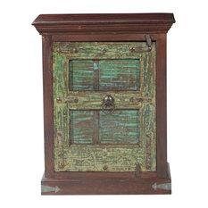Gothic Green Door Mango & Reclaimed Wood Night Stand Mini Cabinet