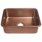 "Sinkology - Renoir 23"" Copper Undermount Single-Bowl Kitchen Sink - BRAND: Sinkology"