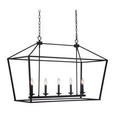 "Craftmade 52975 Flynt 5 Light 40""W Taper Candle Chandelier - Flat Black"