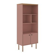 Bookcase Cabinet in Ceramic Pink and Nature