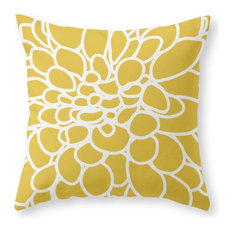 """Society6 Mustard Yellow Mod, Throw Pillow, Indoor Cover, 18""""x18"""", Pillow Insert"""