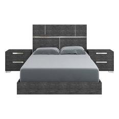 Casabianca Home Milo Gray Birch Lacquer Bed, King