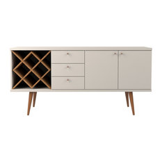 Utopia 4 Bottle Wine Rack Sideboard Buffet Stand With 3-Drawers and 2 Shelves, O