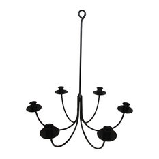 Wrought Iron 6 Arm Candle Chandelier