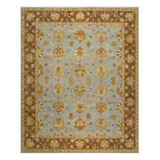 Rugsville Carole Blue Floral Hand Knotted Wool Persian Rug 6' x 9'