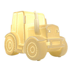 Light-Glow Porcelain Table Lamp, Tractor