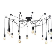 Unitary Antique Large Barn 14-Light Chandelier