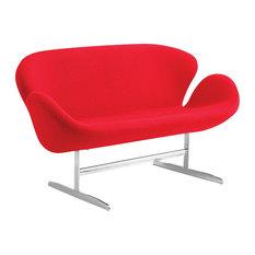 Swan Sofa Fabric Red