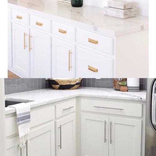 Hardware Selection For White Kitchen