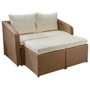 Jersey Garden Lounge Set, Brown