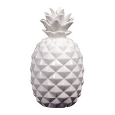 Fine Crafted Pineapple Decor, White, Small
