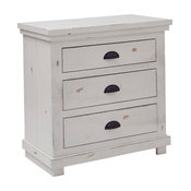 Willow Distressed Nightstand, Distressed White