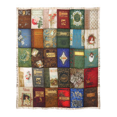 Victorian Trading Co. Cover to Cover Book - Quilted Throw Blanket