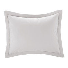 Cottonpure Colors All Natural 100% Cotton Pillow Sham, White, King