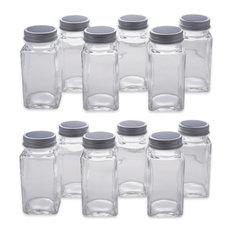 DII 12-Piece Spice Jar Set With Chalkboard Labels