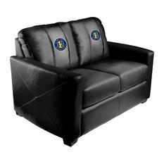 Utah Jazz NBA Silver Love Seat With Secondary Logo Panel
