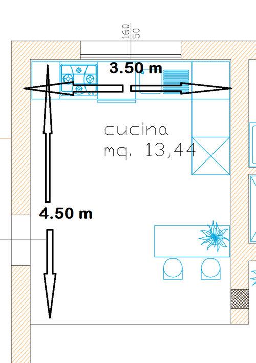 Info su dimensioni stanza per cucina con Isola