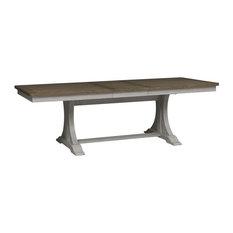 Farmhouse Reimagined Trestle Table, Antique White