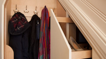 Understairs pull outs with coat rack