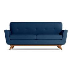 Carson Apartment Size Sofa Blueberry 72-inchx34-inchx32-inch