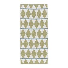 Zigge Woven Vinyl Floor Cloth, Olive, 70x50 cm