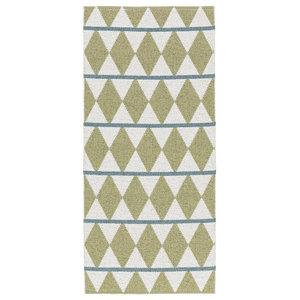Zigge Woven Vinyl Floor Cloth, Olive, 150x200 cm