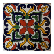 4.2x4.2 9 pcs Fuego Talavera Mexican Tile