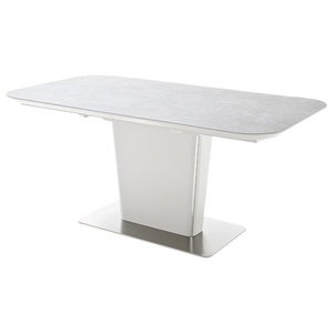 Naomi Ceramic Grey Top Extendable Dining Table, 160 cm