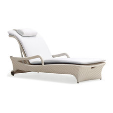 Taupe Exotica Lounger, Black and White Cushion