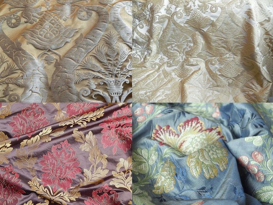 Дизайн штор, скидки 60–80 % Распродажа элитных шелковых тканей для штор.