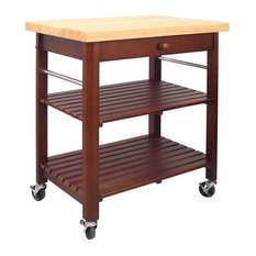 Catskill Craftsmen Roll About Kitchen Cart Cherry Stain