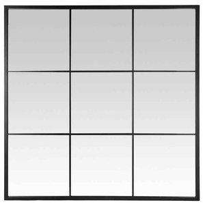 EMDE Black 9-Pane Mirror