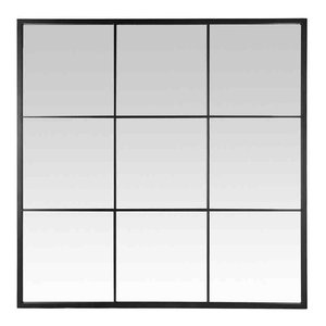 EMDE Black 9-Pane Mirror