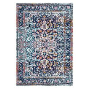 "Persian Vintage Raylene Area Rug, Pink, 5'x7'5"""