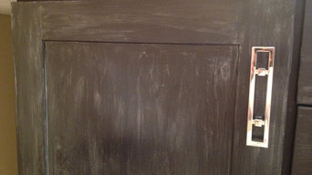 Faux cabinet, specialty finish