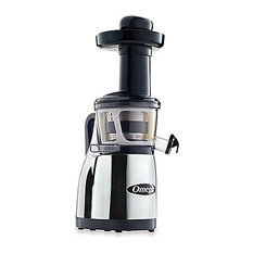 Omega Low Speed Masticating Juicer With Handle, Chrome