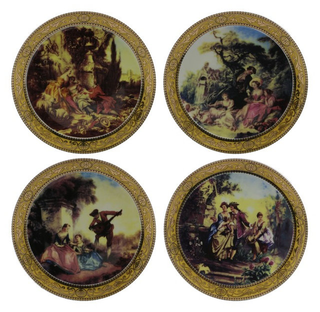 High Quality Fine Porcelain Decorative Romantic Scenery Motif Wall Plates  sc 1 st  Houzz & High Quality Fine Porcelain Decorative Romantic Scenery Motif Wall ...