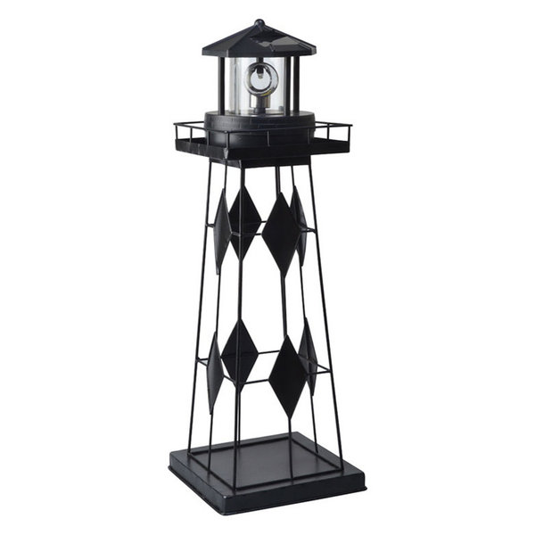 Solar LED Metal Rotating Lighthouse