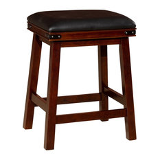 DTY Indoor Living Cortez 24-inch Bonded Leather Counter Stool Espresso Black Leath