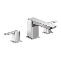 Moen 90 Degree 2-Handle High Arc Roman Tub Faucet, Chrome